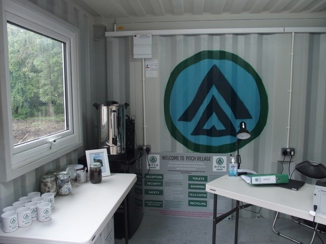 Coffee room inside container