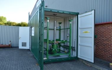 Green framework inside container