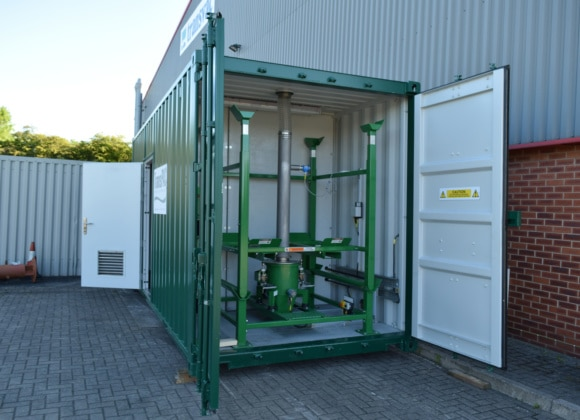 Green framework inside container
