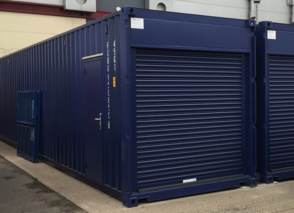 Navy blue container