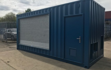 Navy container with metal shutter