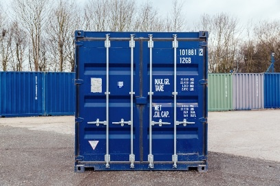 10ft container front view