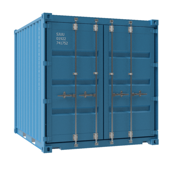 Square blue container no background