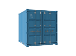 Square blue container PNG