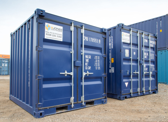 10ft Shipping Containers in Blue