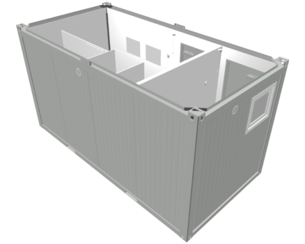 GCI silver container no roof