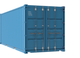 20ft plain blue container