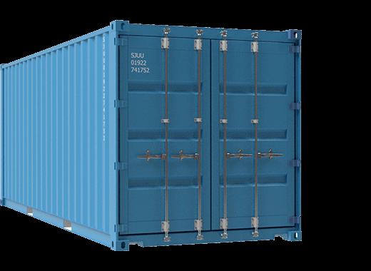20ft plain blue container
