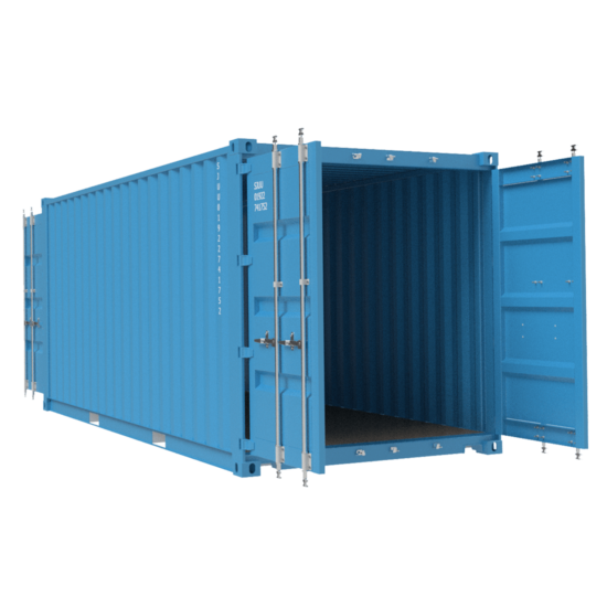 Blue container with blue insides