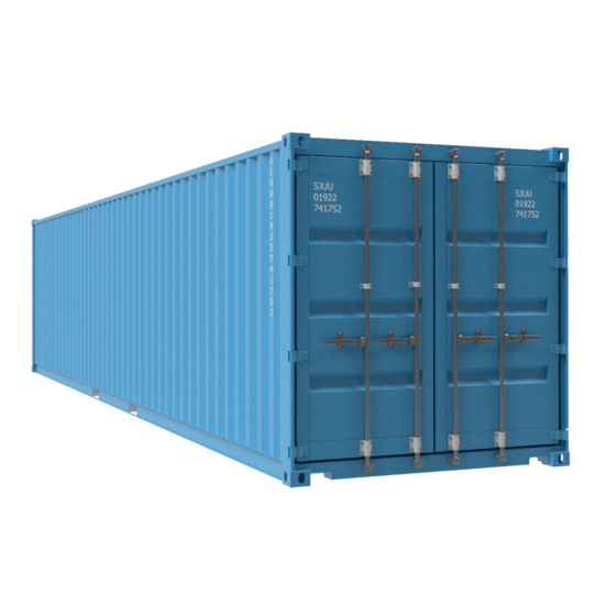 40ft shipping container in blue