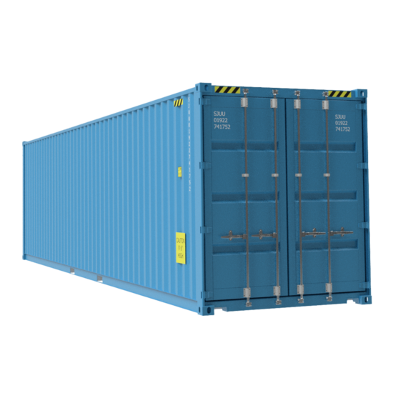 Light blue container diagonally