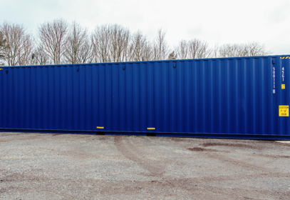 Left side view of 40ft container