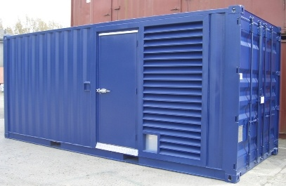 Blue container with vertical air vent