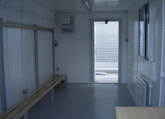 Container door open from inside
