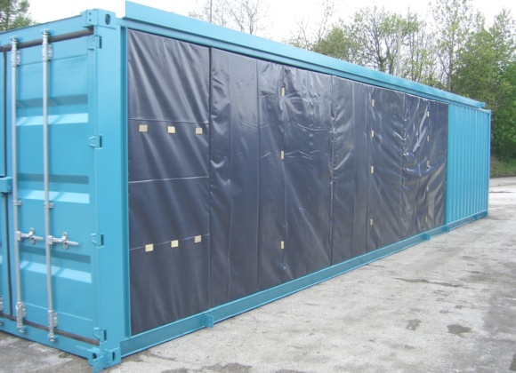 Sky blue 40ft container plastic covering