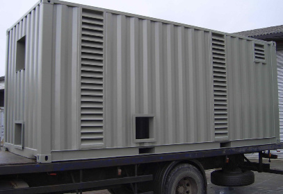 Container on lorry