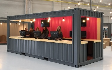 The SJ Containers Reception Desk