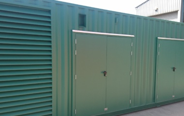 Green Container with Three Double Doors