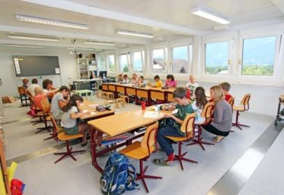 Children working in classroom