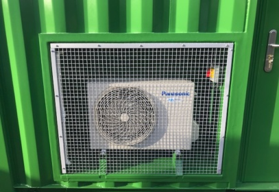 Panasonic air vent on green container