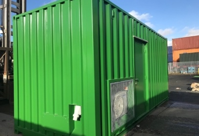 Small image of green container in sun