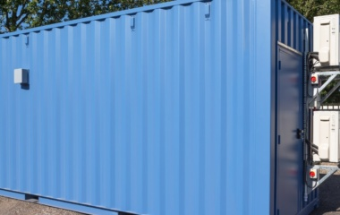 Blue Container with Exterior Fan