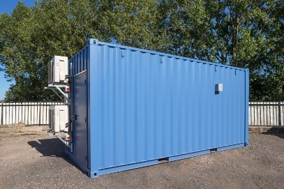 Blue Container from the Right