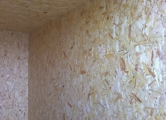 Lining of container interior OSB