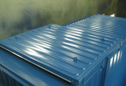 Roof of container inside