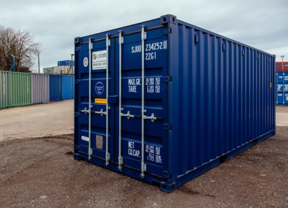 Blue container right view