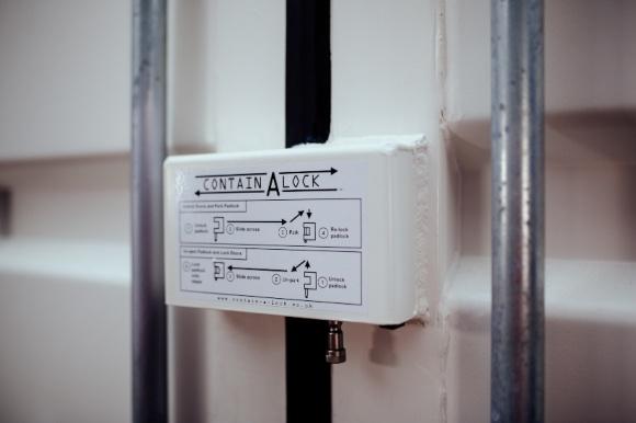 Contain A Lock protector on door