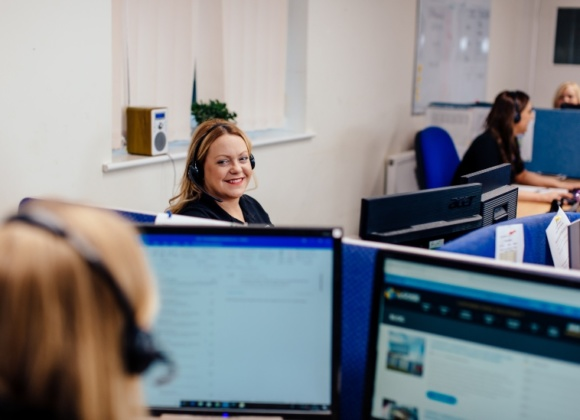 Sales Team At Desks