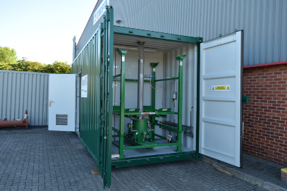 Green Container with Green Interior Piping