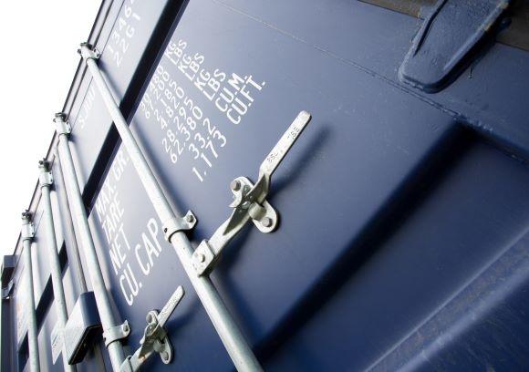 Container doors from below