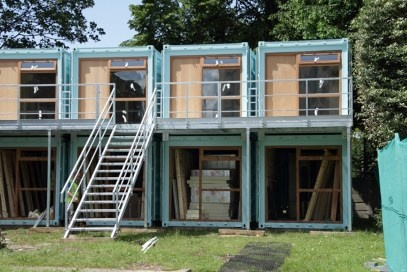 Containers with domestic windows fitted