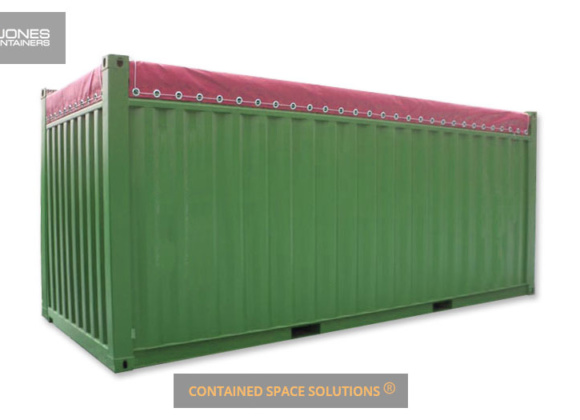Open top container in green