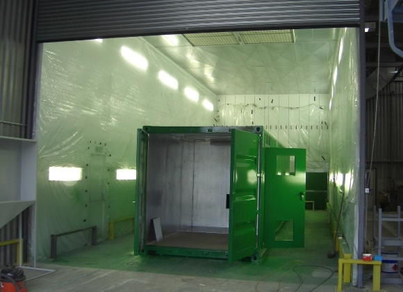 paint booth re-sized