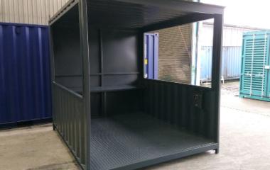 Black shelter open front