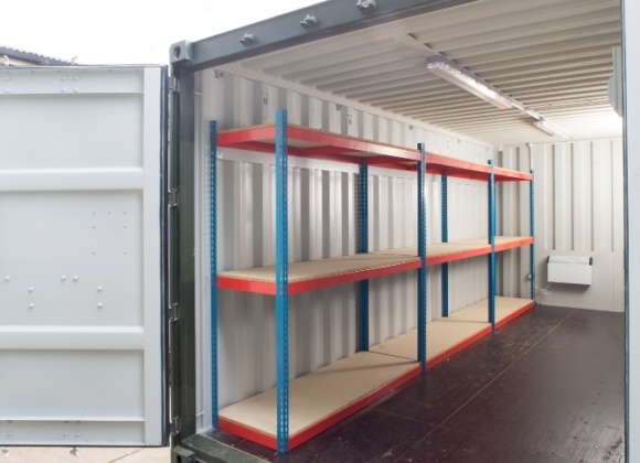 Shelving Inside a Container