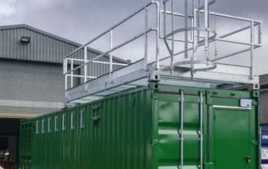 40ft green container exterior