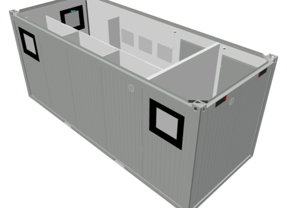 Aerial Design of Shipping Container Interior