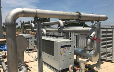 Uniflare outdoor piping system